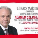 Adam Szejnfeld w Pleszewie plakat